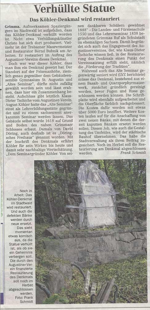 Verhüllte Statue