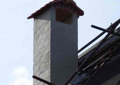 Rekonstruierter gotischer Schornsteinkopf