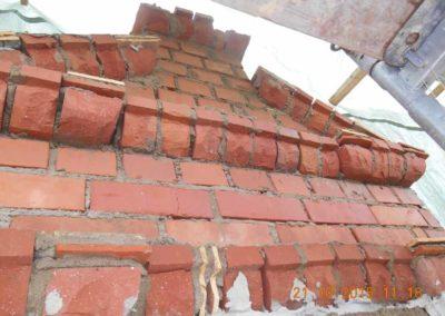 Mauertechnischer Rekonstruktionsversuch eines Renaissancegiebels