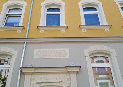 Putz und Stuckrekonstruktion einer Bürgerhausfassade