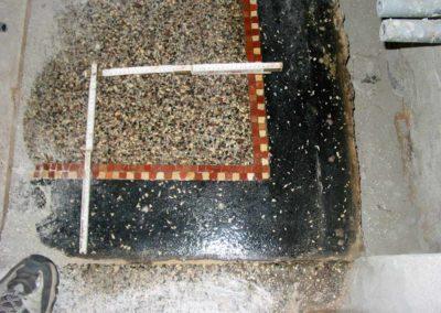 Terrazzoboden mit teilweise Neupolitur