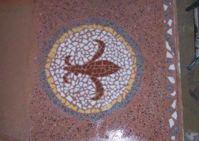 Entwurf eines Terrazzobodens mit Mosaik